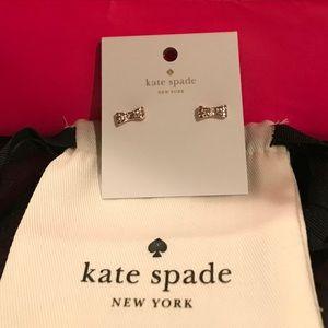 Kate Spade ♠️ Brand NWT  Rhinestone Bow Earrings